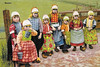 Girls in Marken (pepandtim) Tags: postcard old early nostalgia nostalgic marken clogs girls traditional dress 36mar43 holland netherlands photochrom