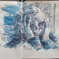 Tilley pour JKPP @juliakaysportraitparty  #sketch #portrait (dege.guerin) Tags: instagramapp square squareformat iphoneography uploaded:by=instagram