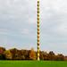 Endless Column made by Romanian artist Constantin Brancusi one day autumn