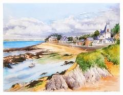 Piriac sur Mer - Bretagne - France (guymoll) Tags: piriacsurmer piriac bretagne france port plage aquarelle watercolour watercolor