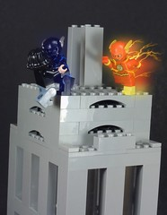 I Too Can Fish With Bait (MrKjito) Tags: lego superhero minifig flash zoom cw custom fish with bait 2x05 speedforce tower