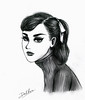 Audrey (duckhoa_le) Tags: audrey hepburn portrait photography classic classical beautiful pretty drawing sketch illustration poppy parker fashion royalty funny face sabrina roman holiday black white