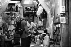 Old Shop (superzookeeper) Tags: 5dmk4 5dmkiv canoneos5dmarkiv ef2470mmf28liiusm eos digital blackandwhite bnw monochrome street shop oldshop mk people hongkong hk mongkok