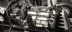 Vintage Maserati Engine (PAJ880) Tags: vintage masersati racecar engine detail open wheel monoposto lime rock park historic races lakeville ct bw mono
