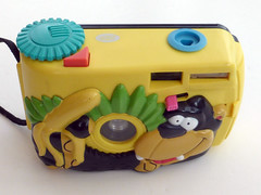 Monkey & Banana Camera (pho-Tony) Tags: photosofcameras toycameras monkeybananacamera monke banana camera toy novelty character boots bootsthechemist jungle plastic 35mm monkey