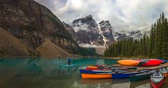 Moraine Lake (Ray Jennings AU) Tags: morainelake canada rayjennings panorama kayak mountain lake nikond810 nikon2470