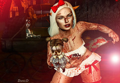 Creepy (Dani Oderson) Tags: halloween creepy blood sexy babygirl bbg red white candykitten letre izzies scary zombie girl crazy mad secondlife sl virtual