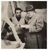 Fazzini con Ungaretti nel 1949 (dindolina) Tags: photo fotografia blackandwhite bw biancoenero monochrome monocromo sepia seppia fazzini periclefazzini ungaretti sculptor scultore poet poeta roma rome italy italia 1940s anniquaranta 1949 art arte studio