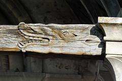 Engoulant du porche - Villiers-le-Duc (Côte d'Or) (odile.cognard.guinot) Tags: engoulant bourgogne bourgognefranchecomté côtedor églisesaintjeanbaptiste villiersleduc
