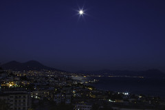 Napoli al chiaro di luna - Naples in moonlight (58lilu58) Tags: luna moon moonlight chiarodiluna napoli naples landscape