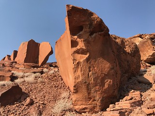 Ancient Sandstone Rock Formations Damaraland Namibia Africa