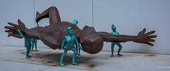 2017 - Montreal - Horizontal (Ted's photos - For Me & You) Tags: 2017 canada cropped montreal nikon nikond750 nikonfx tedmcgrath tedsphotos vignetting quebec montrealquebec sculpture publicart bronze bronzesculpture widescreen wideangle