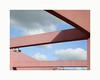 Structure (hélène chantemerle) Tags: structure béton lampes rose ciel bleu nuages concrete lamps pink sky blue clouds