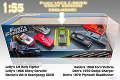 1-55_Mattel_Fast_Furious_7pack (Sigi D) Tags: 155 mattel fast furious fastfurious diecast 7pack sigid chevrolet corvette rally fighter camaro victoria ford dodge charger plymouth road runner koenigsegg ccxr