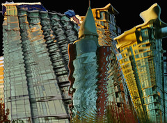 downtown (petejam70) Tags: arcitecture art artistic surreal abstract urban color warp building business vancouvercanada