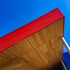 "Wood and red (Jerzy Durczak (a.k.a."" jurek d."")) Tags: red wood architecture ikea"