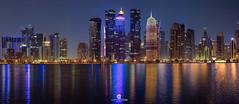 Doha panorama skyline (Doha, Qatar) (Juan María Coy) Tags: doha panorama skyline qatar canon7dmarkii night noche street calle urban ciudad city longexposure silueta arquitectura aire libre edificio building canonef70200 canonef70200mmf28lisiiusm