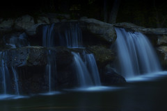 waterfall (remiklitsch) Tags: photoshop remiklitsch nikon panoramic landscape waterscape falls water splash waterfall dogwood52 dogwood2017 dogwood2017week44 ndfilter longexposure night santamonica october california usa losangeles blue rocks nature