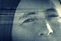 Träumerlie (StellaMarisHH) Tags: europa dänemark blavand nordsee nordseeküste meer profil gesicht sehnsucht träumen canon canoneos5dmkiv eos5dmkiv eos 5dmkiv tamron tamron70200 70200 doppelbelichtung photoscape monochrom