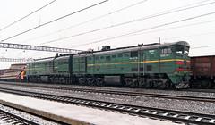 2ТЭ10М-3378 (logica.bs) Tags: 2тэ10м3378 сев сжд жд тепловоз поезд весна март транспорт нерехта станция
