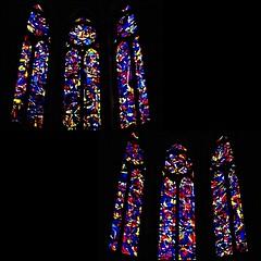6 - Reims - Cathédrale Notre-Dame - Chapelles du Sacré-Coeur et Saint-Joseph - Vitraux d'Imi Knoebel (melina1965) Tags: reims marne grandest octobre october 2017 nikon d80 mosaïque mosaïques mosaic mosaics collages collage église églises church churches vitrail vitraux stainedglasswindow stainedglasswindows