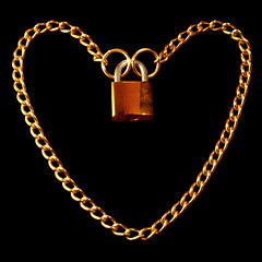 Verschlossenes Herz / Locked heart (ErnyRy) Tags: heart lock chain golden erny ernyry mönchengladbach germany shiny symbol love erhard ernst valentine metal save safety secure conne connected linked couple isolated brass steel gold reflection background black closed close up square desktop object closeness padlock