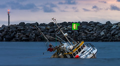 Shipwreck (Larsenio) Tags: sea seascape seascapes landscape bølger boats beach boat vesterålen vessels vessel fish fishing fisk gonefishin andøy andenes arctic no norway m norge north norvege norwegen nordic northern norsk nordland northernnorway norwegian shipwreck capsize wreck forlis forlist
