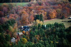 Spreading foliage (Rabican7) Tags: nh forest woods foliage fall colors colorful vista scenic view spreading houses orange birch maple photography landscape nikon overlooking newhampshire newengland conway north autumn magnificent breathtaking
