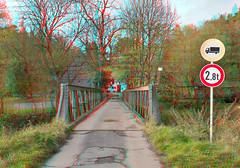 Brücke zur Fattigsmühle ( 3D ) (GerWi) Tags: brücke haus fz1000 3d stereo strase ort