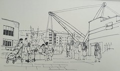 The Millenium Bridge from Friar's Walk, Newport, Gwent