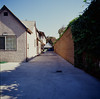 San Jose (bior) Tags: apartment sanjose driveway square hasselblad500cm hasselblad kodakfilm mediumformat ektachrome e100vs kodakektachromee100vs expiredfilm soundwall