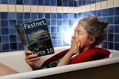 Horror story (Apionid) Tags: fastnet book bath selfportrait reading nikond7000 werehere hereios fastnetforce10