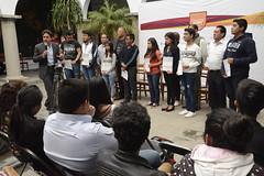 06 Octubre 2017. Entrega de apoyos a Universitarios de Bien (Gobierno de Cholula) Tags: joséjuanespinosatorres universitarios de bien sanpedrocholulapuebla jóvenes cheques apoyos
