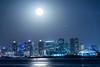 Skyline moonrise (luvsd) Tags: night fullmoon moon california skyline sandiego shelterisland