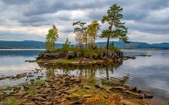 Lake Islet (bjorbrei) Tags: water lake shore island islet trees fall autumn maridalen maridalsvannet lakemaridal oslo norway