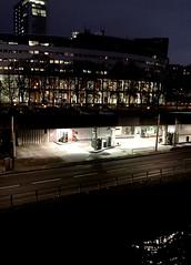 Somewhere.... (laurent.paulre) Tags: laurent paulre somewhere fuel essence maison de la radio nuit night highway autoroute station