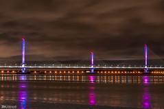Mersey Gateway Bridge Lights (Bob Edwards Photography - Picture Liverpool) Tags: 2017 bridge cheshire crossing gateway halton mersey merseyflow october13th river runcorn transport vehicles widnes