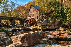 Glade Creek Grist Mill (Thomas DeHoff) Tags: fall colors autumn grist mill glade creek west virginia babcock state park hdr aurora 2018