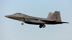 09-4185/FF  F-22A RAPTOR USAF (MANX NORTON) Tags: f22 raptor f35 lightning f15 eagle f16 falcon raf lakenheath