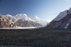 In the Tien Shan mountains. (Joost10000) Tags: snow mountain sky glacier ice moraine alpine mountainside landscape landschaft kyrgyzstan asia centralasia wild wilderness outdoors beauty scenic tienshan canon canon5d eos tien shan