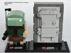 Star Wars LEGO 41498 Boba Fett and Han Solo In Carbonite (KatanaZ) Tags: starwars lego41498 bobafettandhansoloincarbonite lego brickheadz bobafett hansolo nycc newyorkcomiccon