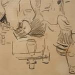 CEZANNE,1872-73 - Cézanne gravant auprès du Docteur Gachet, La Morsure (drawing, dessin, disegno-Louvre RF29925) - Detail 16 thumbnail