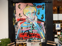 Andy (aestheticsofcrisis) Tags: street art urban intervention streetart urbanart guerillaart graffiti postgraffiti new york ny nyc manhattan soho lowereastside bradleytheodore karenbystedt andywarhol warhol