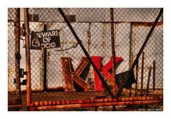 Beware (TooLoose-LeTrek) Tags: detroit sign k letter lettering fence beware bewareofdog rust