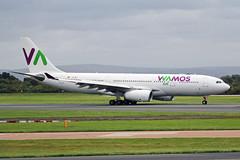 EC-MNY Airbus A330-243 WAMOS Air MAN 03OCT17 (Ken Fielding) Tags: ecmny airbus a330243 wamosair aircraft airplane airliner jet jetliner widebody