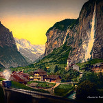 Digital Oil Painting of Lauterbrunnen by Charles W. Bailey, Jr. thumbnail