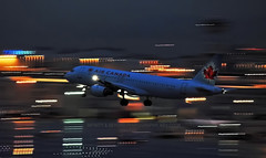 Air Canada A320 Night Pan (Infinity & Beyond Photography: Kev Cook) Tags: air canada airbus a320 night pan miami airport mia panning lights