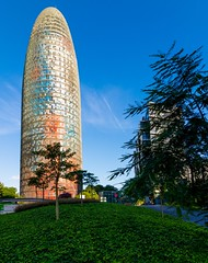 _DSC1236 (durr-architect) Tags: torre agbar tower barcelona jean nouvel modern high tech architecture rise bullet shape cylinder glass surface