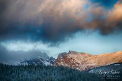Sunrise lights up Mount Toll