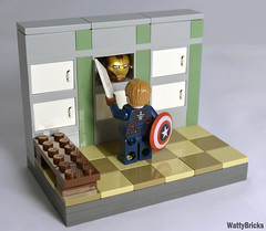Look What Steve Found (WattyBricks) Tags: lego marvel superheroes steve rogers captain america avengers mcu